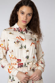 Zadie Cowboy Shirt Dress