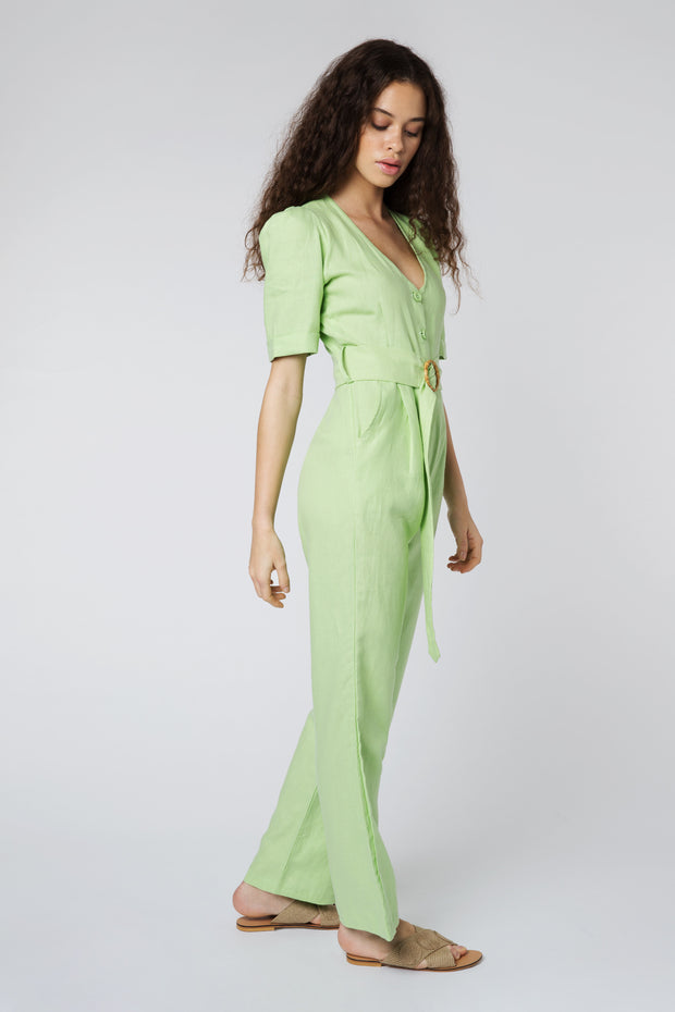 Ludmilla Bamboo Buckle Detail Jumpsuit