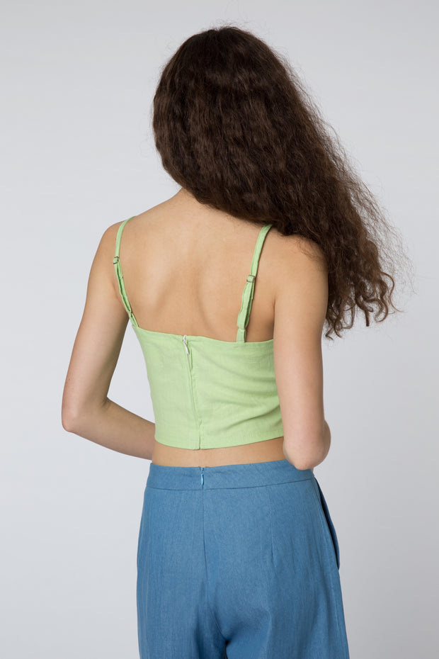 Risa Crop Top in Pistachio