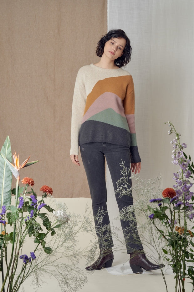 Meylaa Lanscape Knitted Sweater