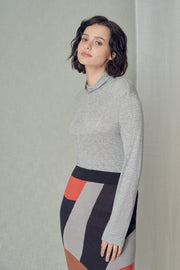 Bekaa Organic Cotton Knit Bricks & Tiles Skirt