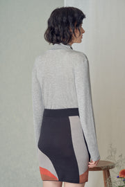 Mio Turtleneck in Grey