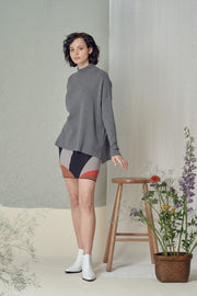 Yunaa Grey Turtleneck Sweater