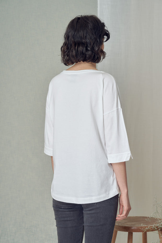 Boatneck Longsleeve in White