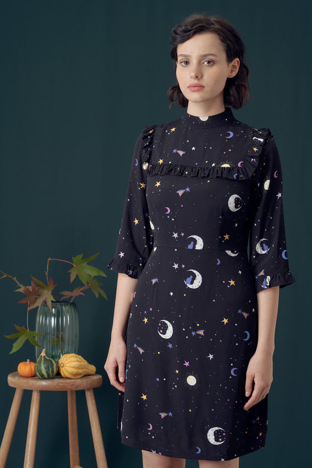 Cynthia Astrological Nights Frill Dress