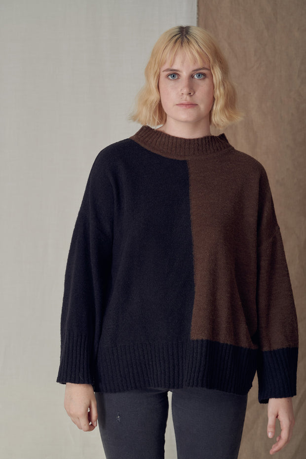 Nino Sweater Black & Brown