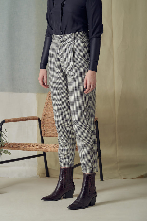 Jane Trousers in Grey Checks