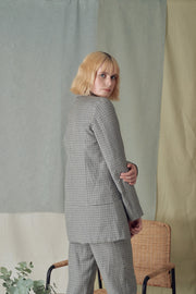 Savana Jacket in Grey Checks