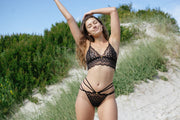 Safari Lace Bra in Black