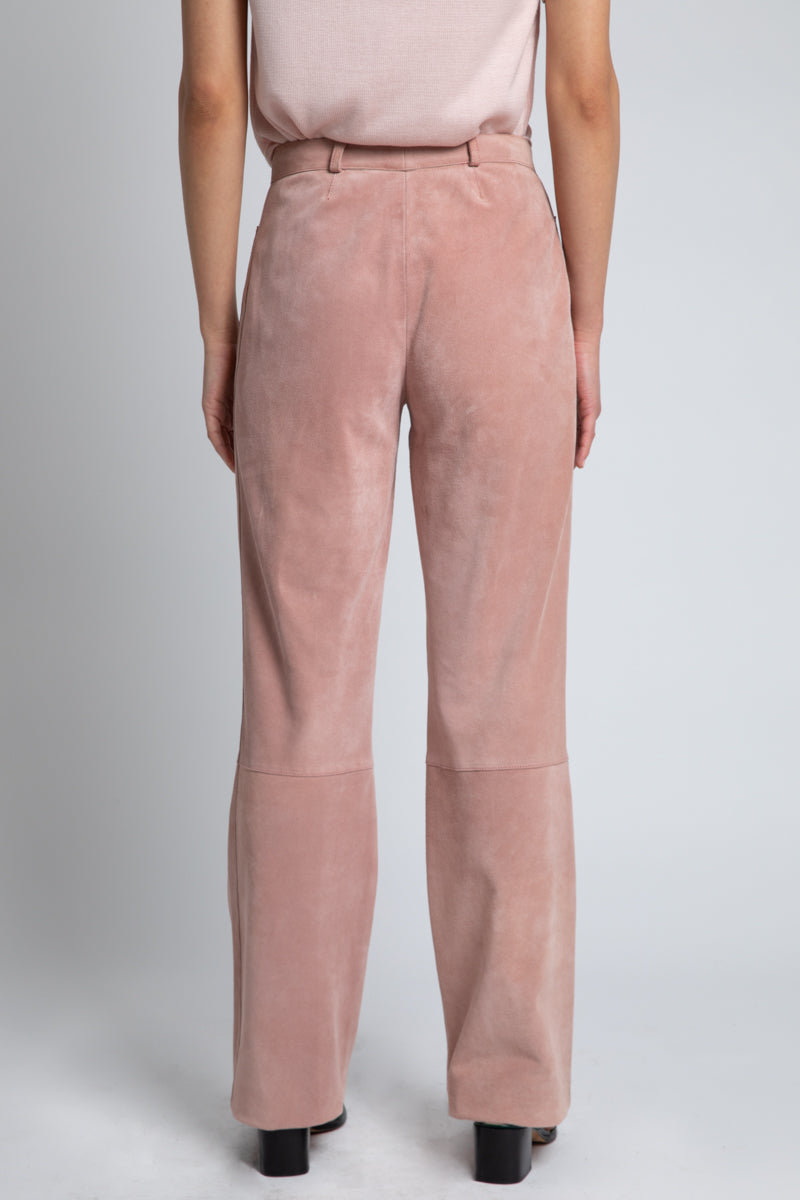 Vintage Moschino Pink Genuine Suede Pants
