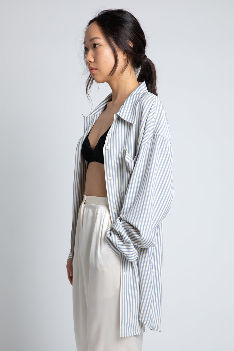 Vintage Silk Stripe Shirt