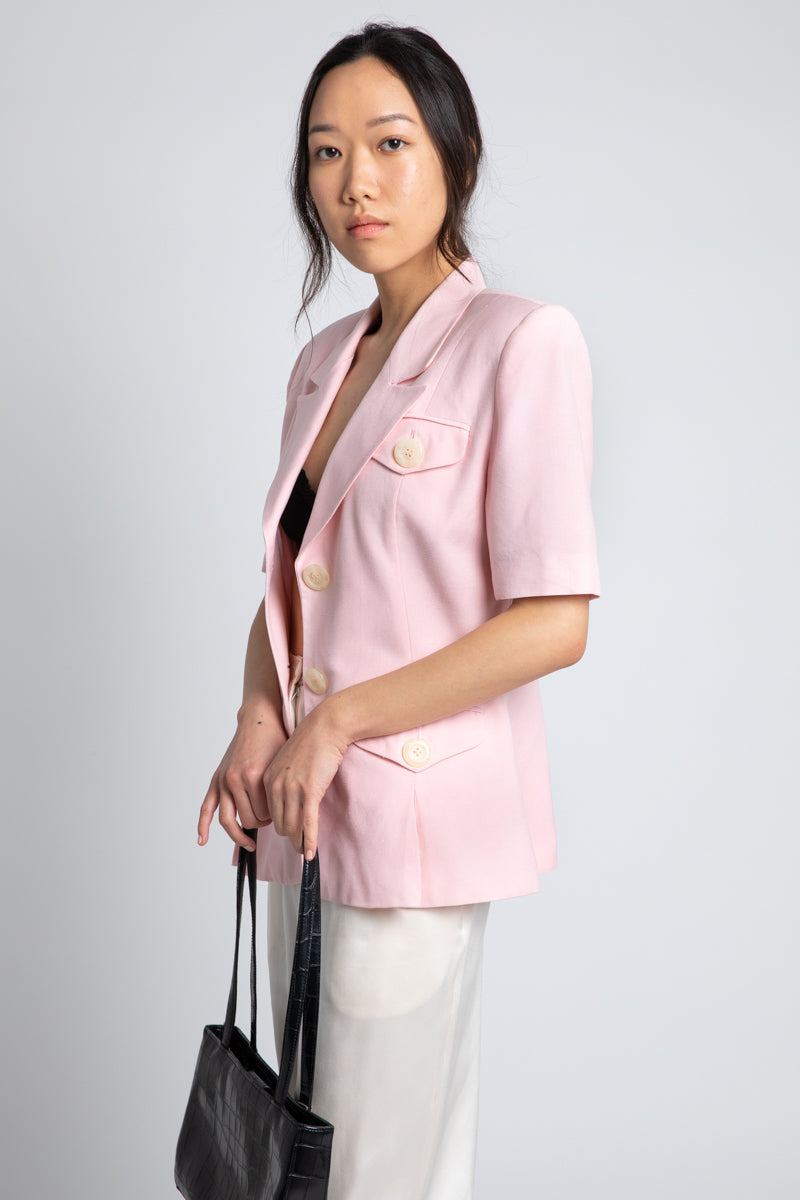 Vintage Christian Dior Light Pink Blazer