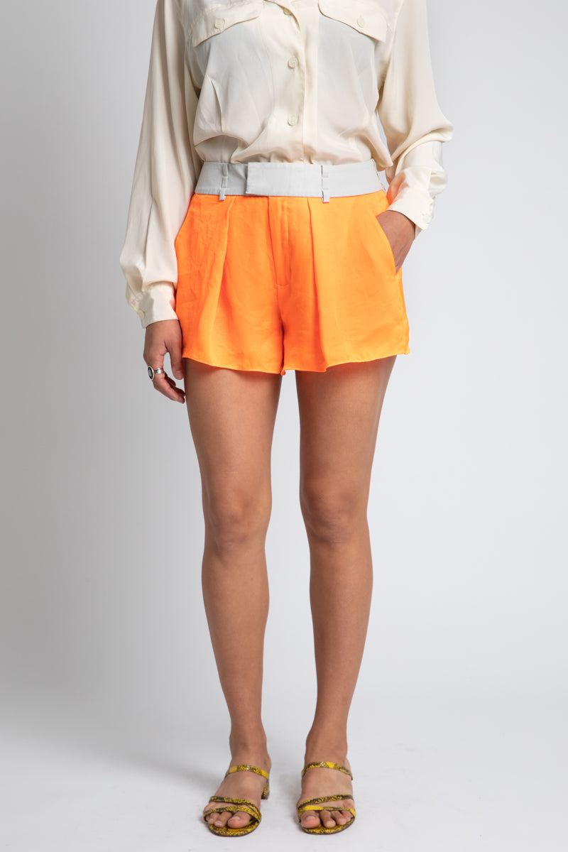 Helmut Lang Neon Orange Short