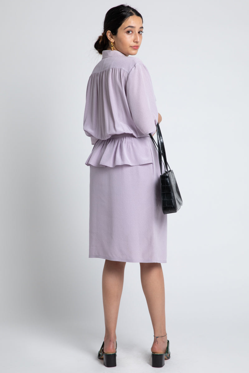 Vintage Valentino Lavender Dot Dress