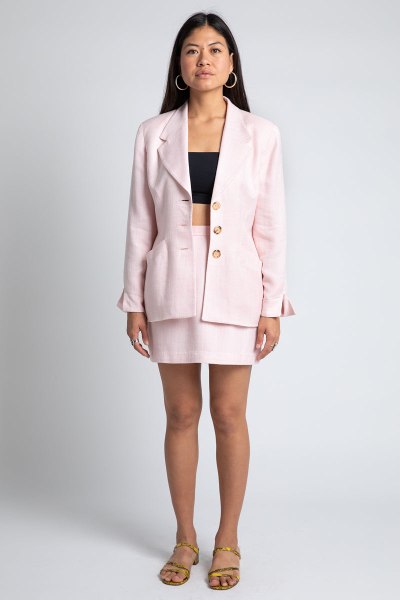Vintage Christian Dior Light Pink Suit Set