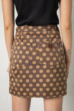Vintage Moschino Dot Wrap Skirt