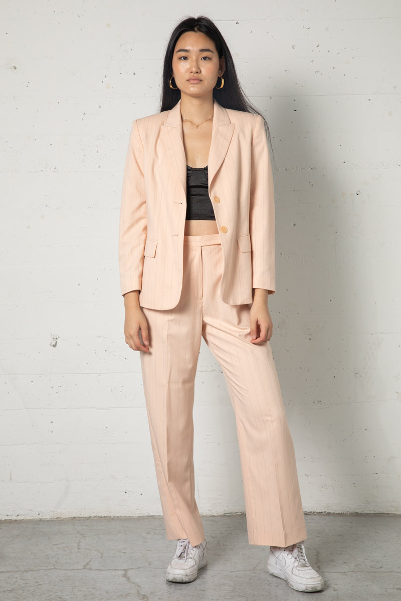 Vintage Blush Pinstripe Suit Set