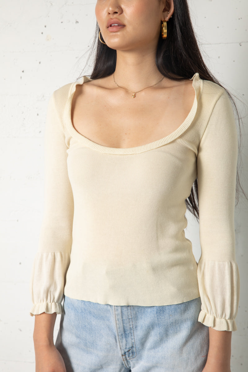 Vintage Moschino Cream Sweater