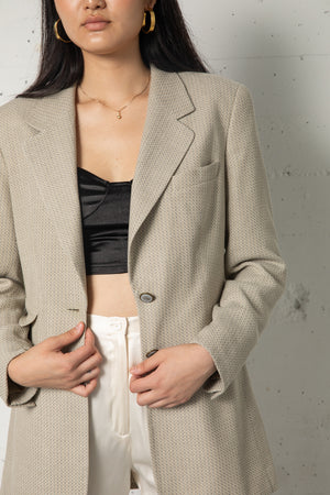 Vintage Escada Mini Chevron Textured Blazer