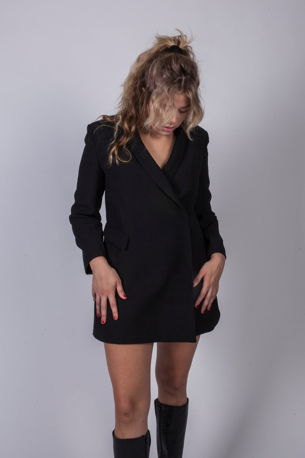Vintage Giorgio Armani Black Blazer Dress