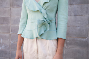Vintage Moschino Mint Textured Blouse