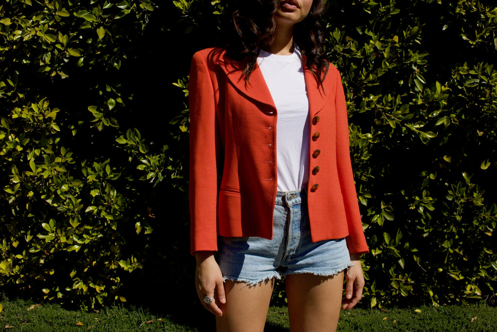 Vintage Christian Dior Orange Blazer