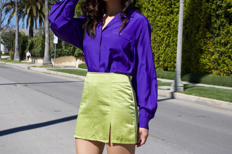 Vintage Christian Dior Violet Button-Up