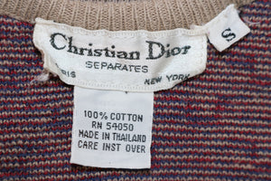 Vintage Christian Dior Geometric Sweater