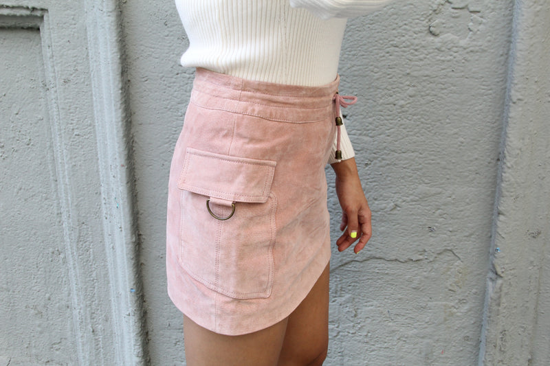 Vintage Rose Suede Skirt
