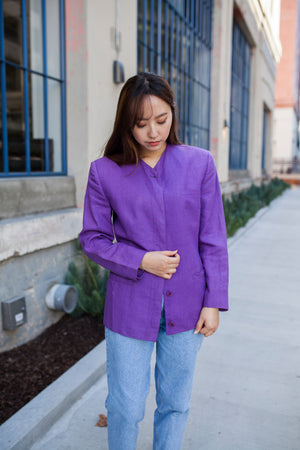 Vintage Versace Purple Linen Jacket