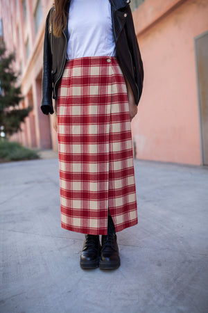 Vintage DKNY Plaid Wrap Skirt
