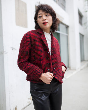 Balenciaga Red Check Jacket