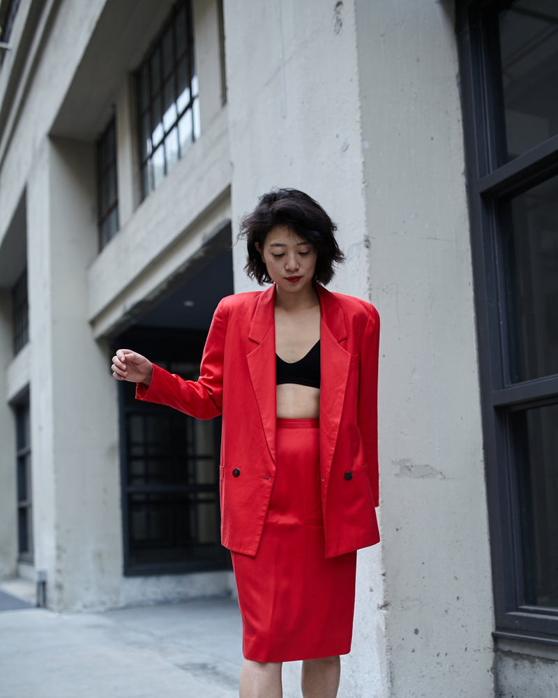 Vintage Christian Dior Red Suit Set