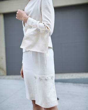 Vintage Valentino Couture Ivory Skirt Set