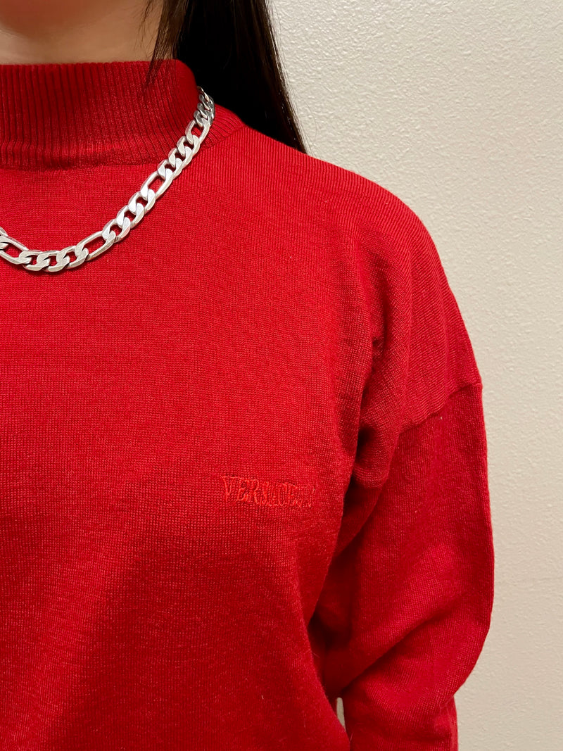 Vintage Versace Red Sweater