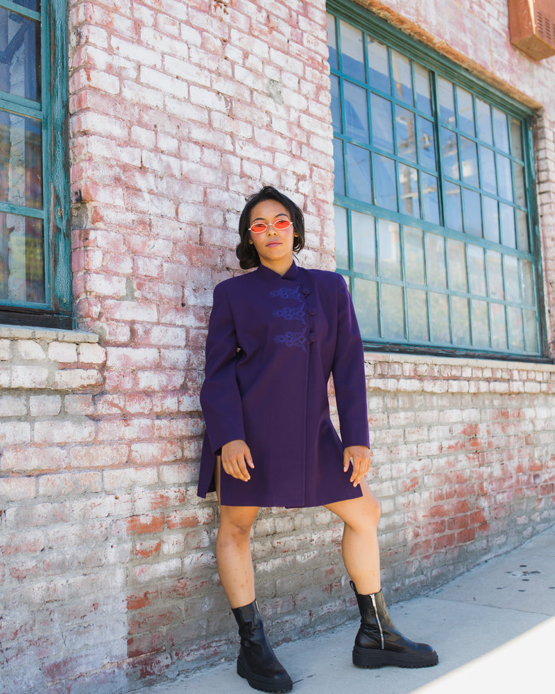 Vintage Christian Dior Purple Jacket Dress