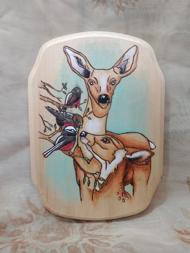 Woodburnt Plaque - Forest Friends