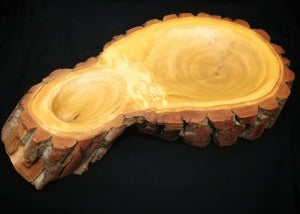 "12 x 21"" Double Bowl by Dan the Carver"