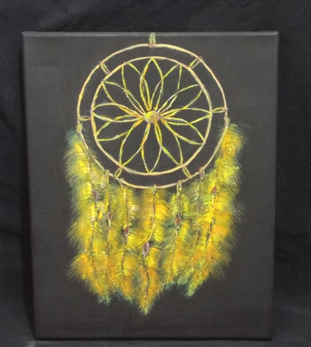Golden Dreamcatcher - 10 x 14