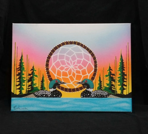 Dream Loons on Canvas - 12 x 16