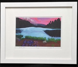 Children of the Earth Artwork - 7x5 - Pink Sky