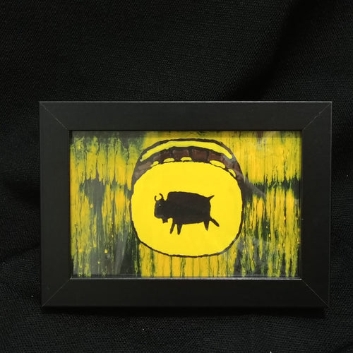 Children of the Earth Artwork - 4x6 - Yellow Bison