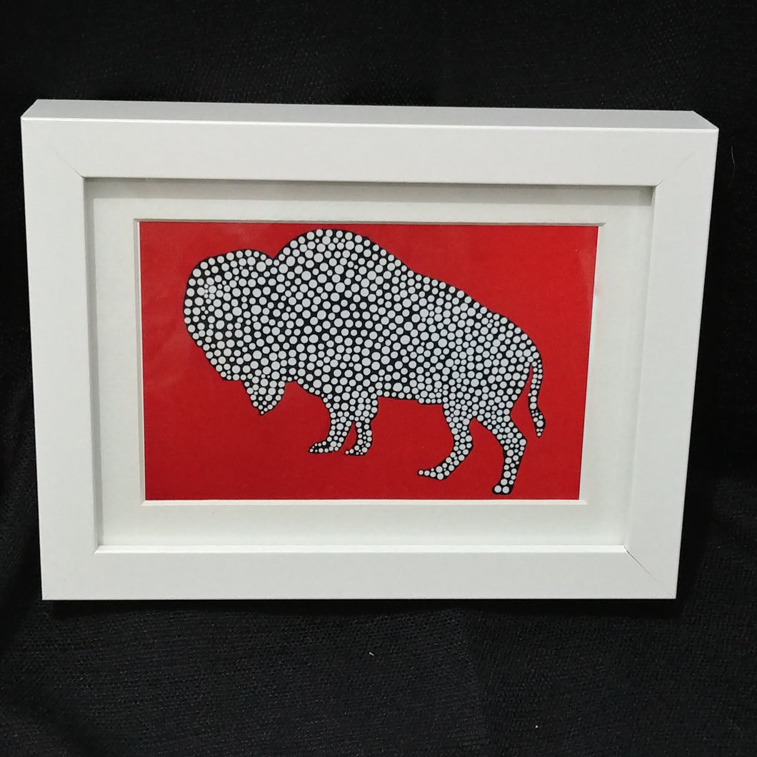 Children of the Earth Artwork - 4x6 - Red Bison
