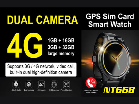 NT668 GPS Sim Card Smart Watch