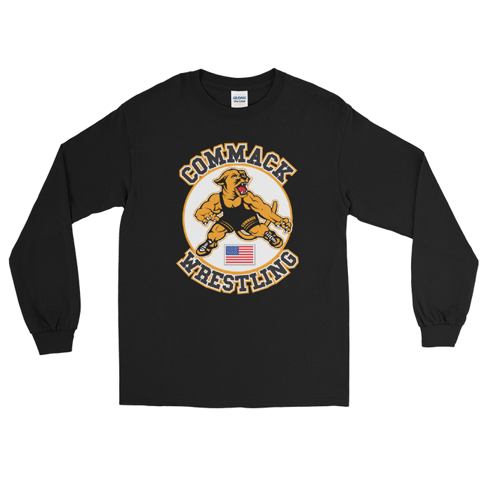Commack Wrestling Long Sleeve T-Shirt Style #3