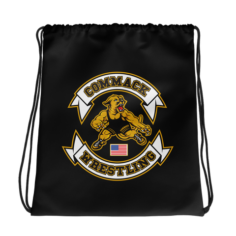 Commack Wrestling Drawstring bag Style #1
