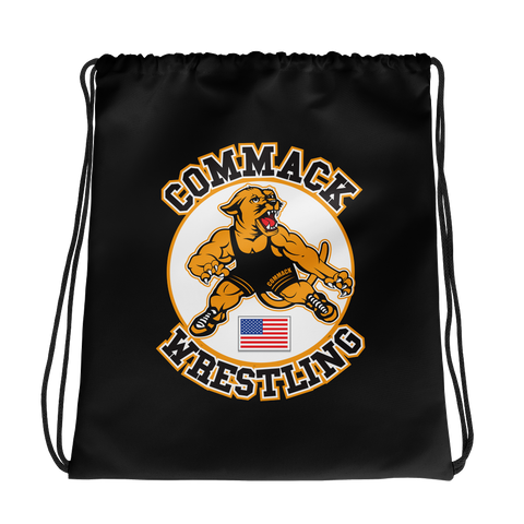 Commack Wrestling Drawstring bag Style #3
