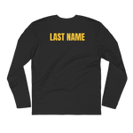 Personalized Commack Wrestling Long Sleeve Fitted Crew Style #1