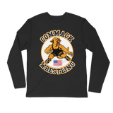 Personalized Commack Wrestling Long Sleeve Fitted Crew Style #3