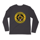 Personalized Commack Wrestling Long Sleeve Fitted Crew Style #2